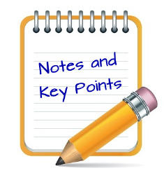 Notes and key points from the lecture.